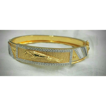 916 Gents Fancy Gold Jaguar Kada G-3720