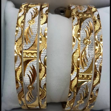 916 GOLD SMASHING CUT BANGLE SET BL0014
