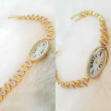 18k Ladies Fancy Gold Italian Watch G-2923