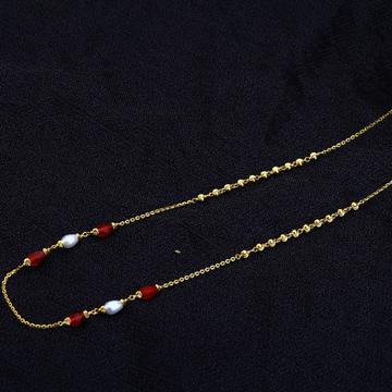 22kt Gold Women's Antique Chain Mala AC138