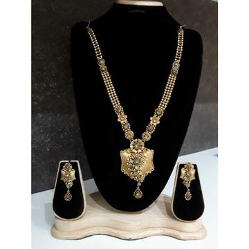 916 Antique Jadtar Gold Long Necklace Set