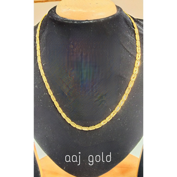 22 kt gold fancy nawabi chain by Aaj Gold Palace