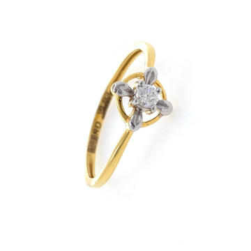 Solitaire Diamond Ring for Everyday use in 18K Yellow Gold - 1.310 gms - VVS EF 8 cents - 0LR62