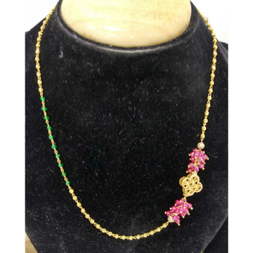 916 Gold Fancy Colorful Vertical Mala by