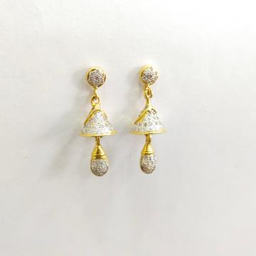 916 GOLD DIAMOND EARRINGS by Shreeji Silver Palace