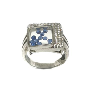 925 Sterling Silver Square Shape Ring MGA - LRS0130