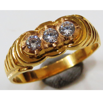 22kt gold close setting  CZ  gents ring gr-004