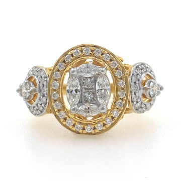 18kt / 750 yellow gold solitaire pressure setting...