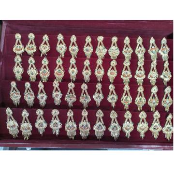 916 Gold Stylish Earring  by Samanta Alok Nepal