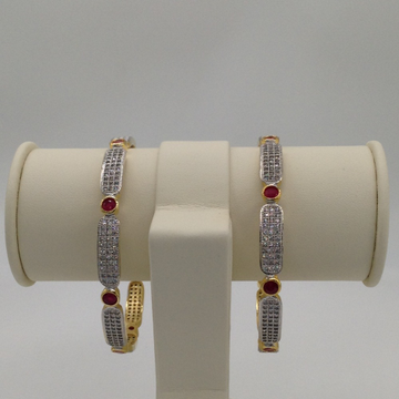 White And Red CZ Bangles JBG0007