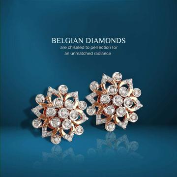22KT Real Gold CZ Diamond Stone kap For Women
