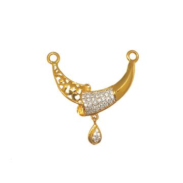 22K Gold Designer Mangalsutra Pendant MGA - MPG0004