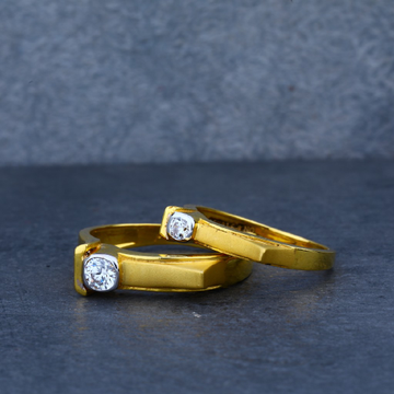Exclusive Solitaire Engagement Gold Couple Ring-CR18