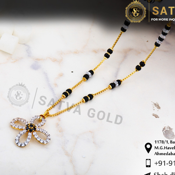 916 gold CZ Mangalsutra SGC-0035