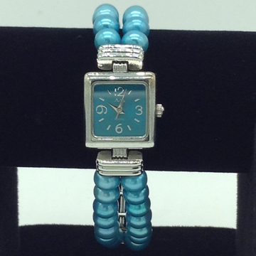 Freshwater Blue Flat Pearls 2 Layers Watch JBG0257