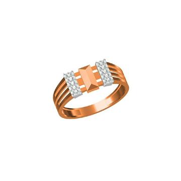 Men's Premium Fancy 18Kt Rose Gold Ring-31304