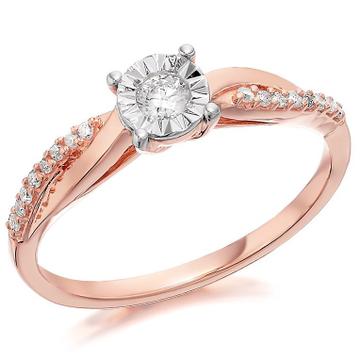 22kt gold and diamond studded engagement ring for women jkr012