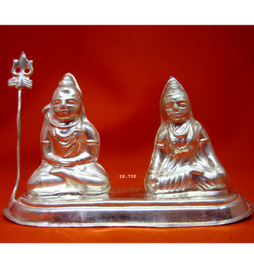 Silver Shree Shiv-Parvati Statue(Murti) MRT-22