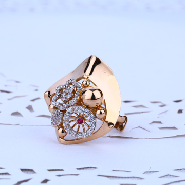 Rose Gold Designer Ladies Ring-RLR24
