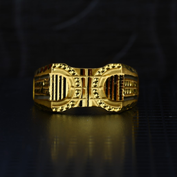 Men's Exclusive 22K Plain Casting Gold Ring- MPR62