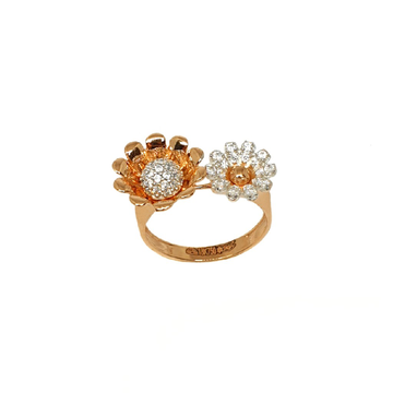 18K Rose Gold Flower Shaped Designer Ring MGA - LRG1074