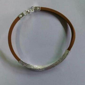 925 Silver Rubber Gents Bracelet