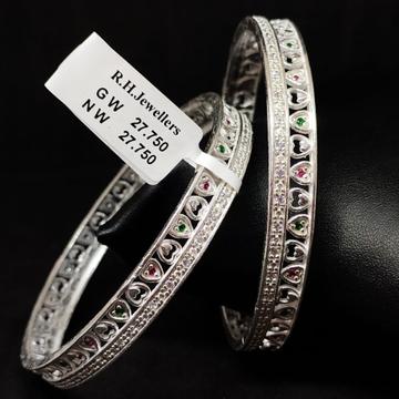 silver classical ladies bangles RH-LB966