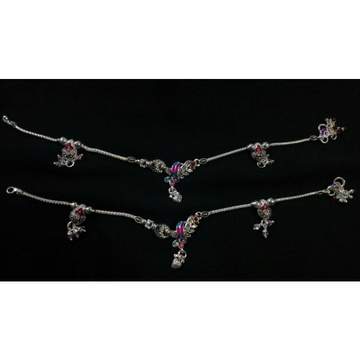 Designer Silver Ladies Indian Payal by