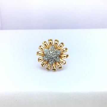 presenting rose gold flower fancy ladies ring