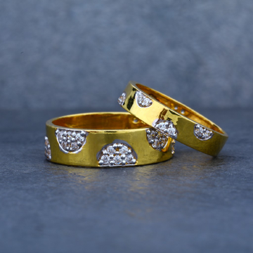 916 gold couple engagement ring-cr03