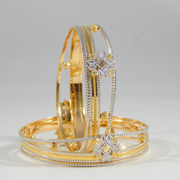 22kt Gold Bangles CNC For Women