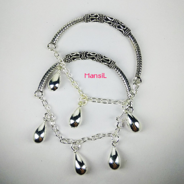 92.5 sterling silver Baby kada bracelet ML-106