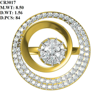 22K Gold Fancy Round Shape Ring MK-R02 by