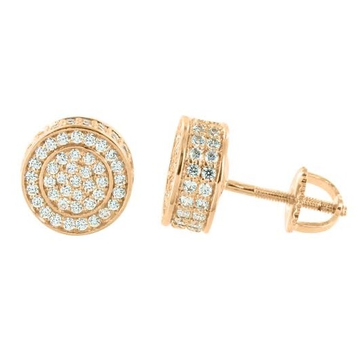 22kt, 916 Hm, Yellow Gold round Tops with diamonds Jke110.