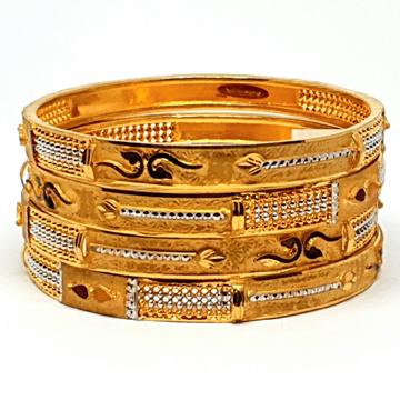 One gram gold forming kada bangles mga - bge0185