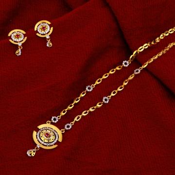 916 Gold Hallmark Fancy   Chain Necklace CN97