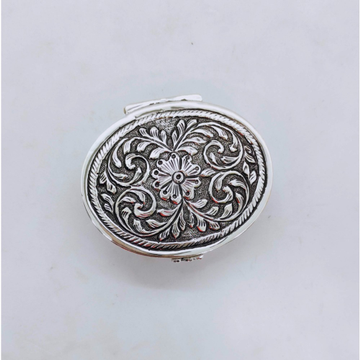 real Silver Box for Gifting In round shape Antique...