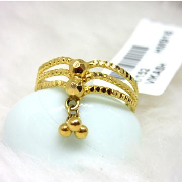 Gold Designer 3 Layer Ladies Ring