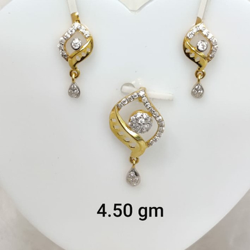 Daily wear Cz pendant set by