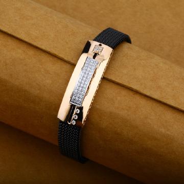 Mens 18K Rose Gold Adjustable Spring Simple Bracelet-MLB06