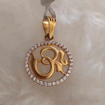 916 gold om pendant by