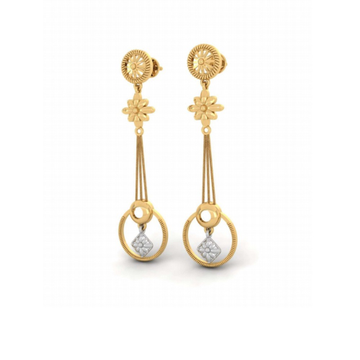 916 gold attractive hanging earring pj-e001