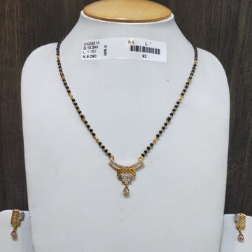 22KT/916 FANCY CARVINI MANGALSUTRA GMS-015