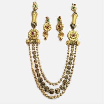 916 Gold Antique 3 Layer Necklace Set RHJ-4017