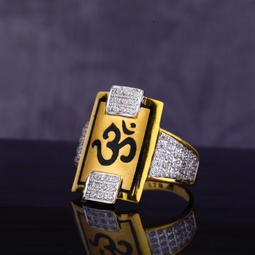 22KT CZ Gent's God Ring MGR141