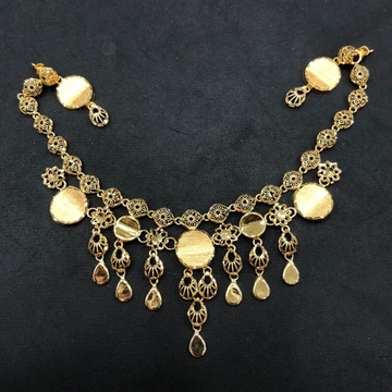 22K Gold Attractive Turkish Necklace Set by