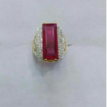 22K/916 Gold Single Stone Designer Ring