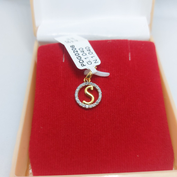 """22ct """"S"""" latter CZ pendent by Parshwa Jewellers"""