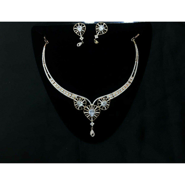 92.5 Sterling Silver Heart Shape Necklace Set Ms-3935