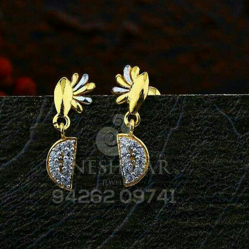 18kt Casual Were Cz Gold Ladies Tops ATG -0726